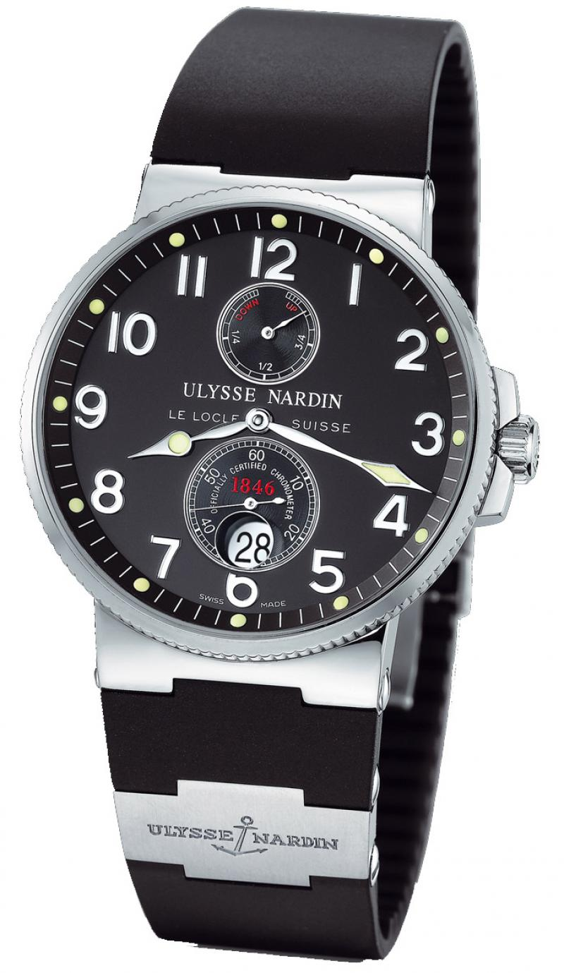 263-66-3/62 Ulysse Nardin Steel  Maxi Marine Chronometer 41mm