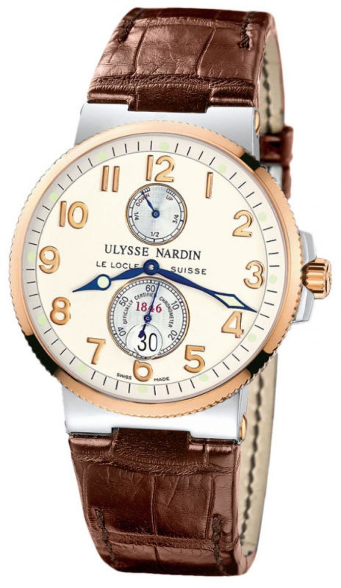 265-66/60 Ulysse Nardin Steel Rose Gold Maxi Marine Chronometer 41mm