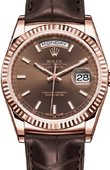 Rolex Day-Date 118135-chocolate Everose Gold