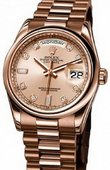 Rolex Day-Date 118205 pink diamonds Everose Gold
