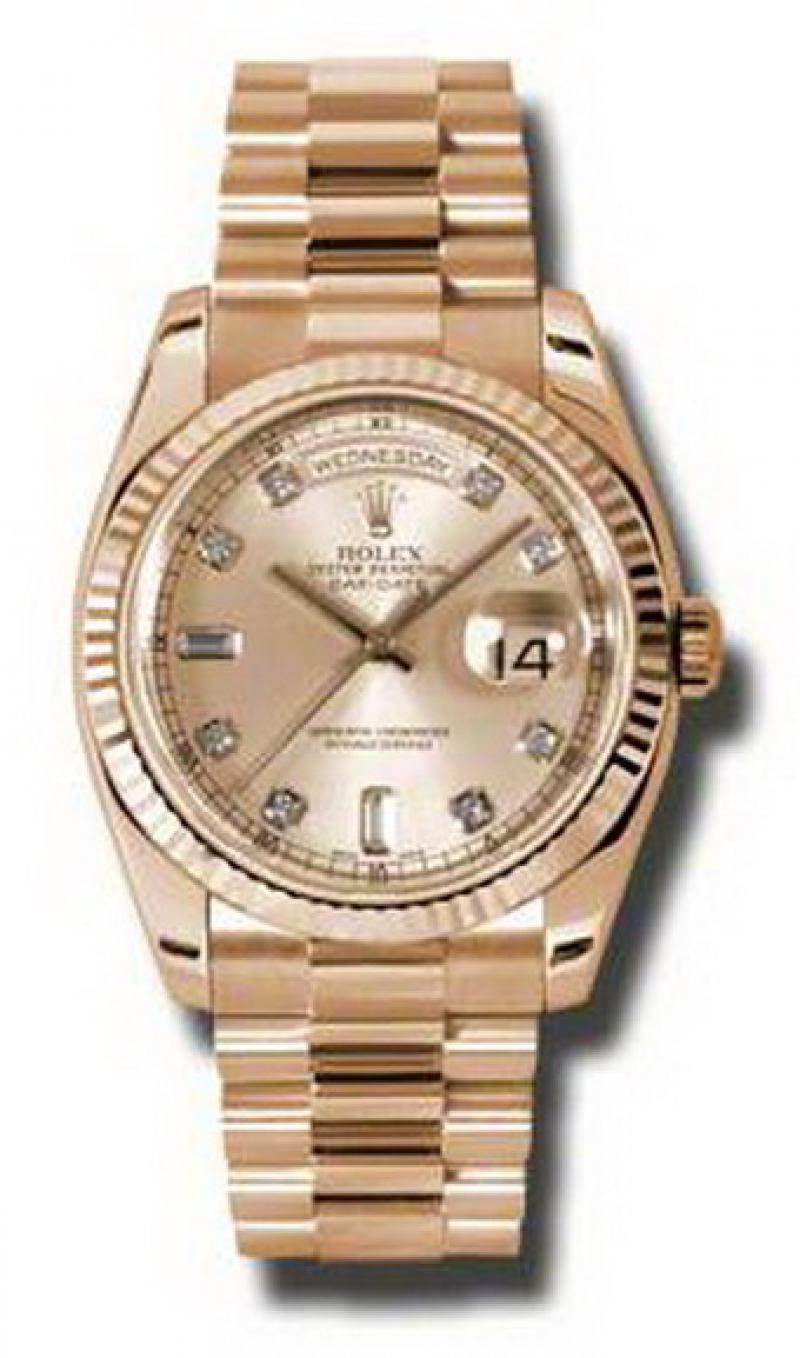 118235 chdp Rolex Everose Gold Day-Date