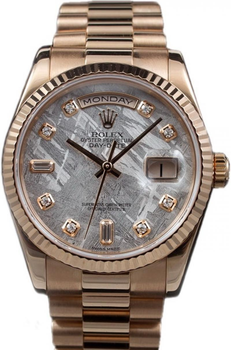 118235 mtdp Rolex Everose Gold Day-Date