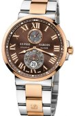 Ulysse Nardin Maxi Marine Chronometer 43mm 265-67-8/45 Rose Gold Steel