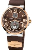 Ulysse Nardin Maxi Marine Chronometer 43mm 265-67-3/45 Rose Gold Steel
