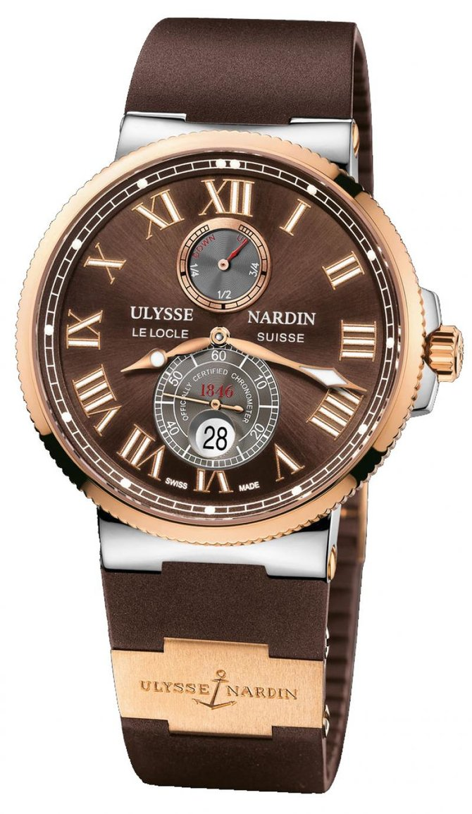 Ulysse Nardin 265-67-3/45 Maxi Marine Chronometer 43mm Rose Gold Steel