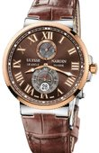 Ulysse Nardin Maxi Marine Chronometer 43mm 265-67/45 Rose Gold Steel