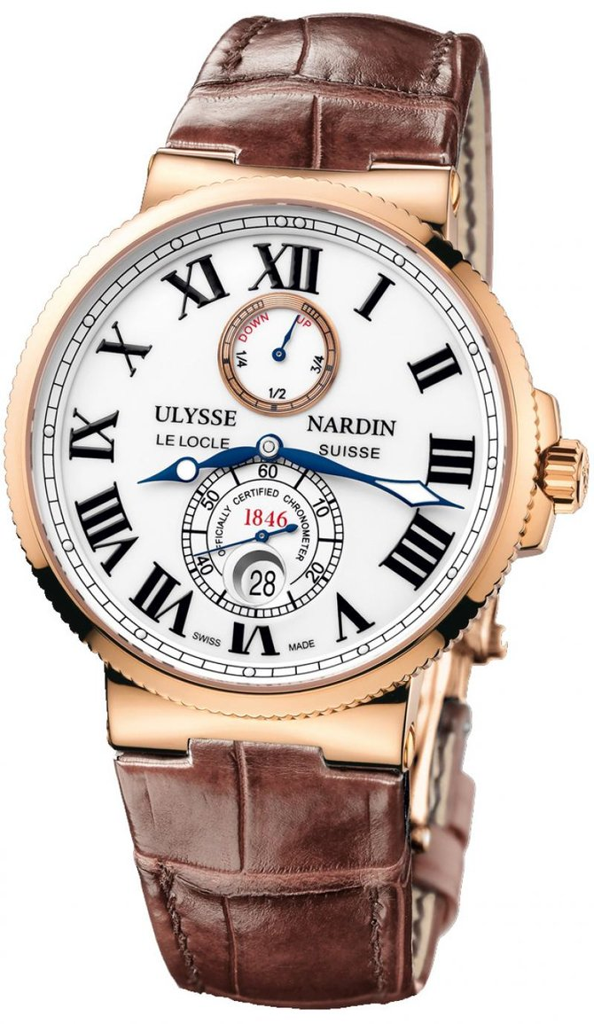 Ulysse Nardin 266-67/40 Maxi Marine Chronometer 43mm Rose Gold