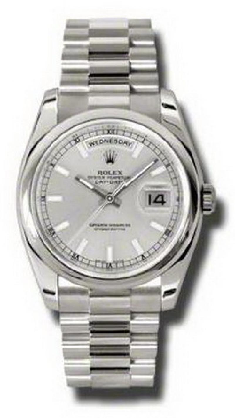 118209 ssp Rolex White Gold Day-Date