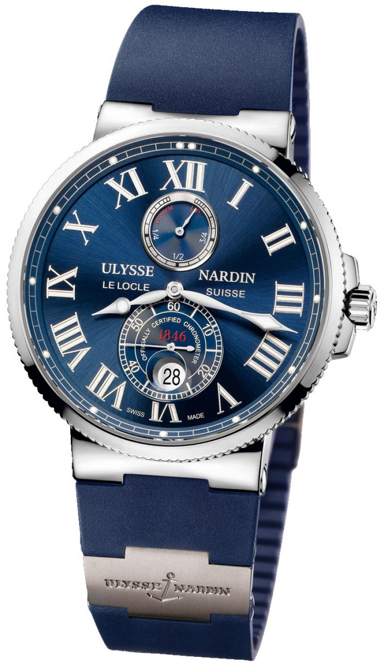 263-67-3/43 Ulysse Nardin Steel Maxi Marine Chronometer 43mm