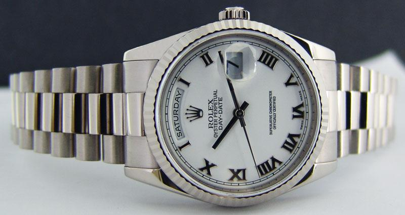 118239 wrp Rolex White Gold Day-Date
