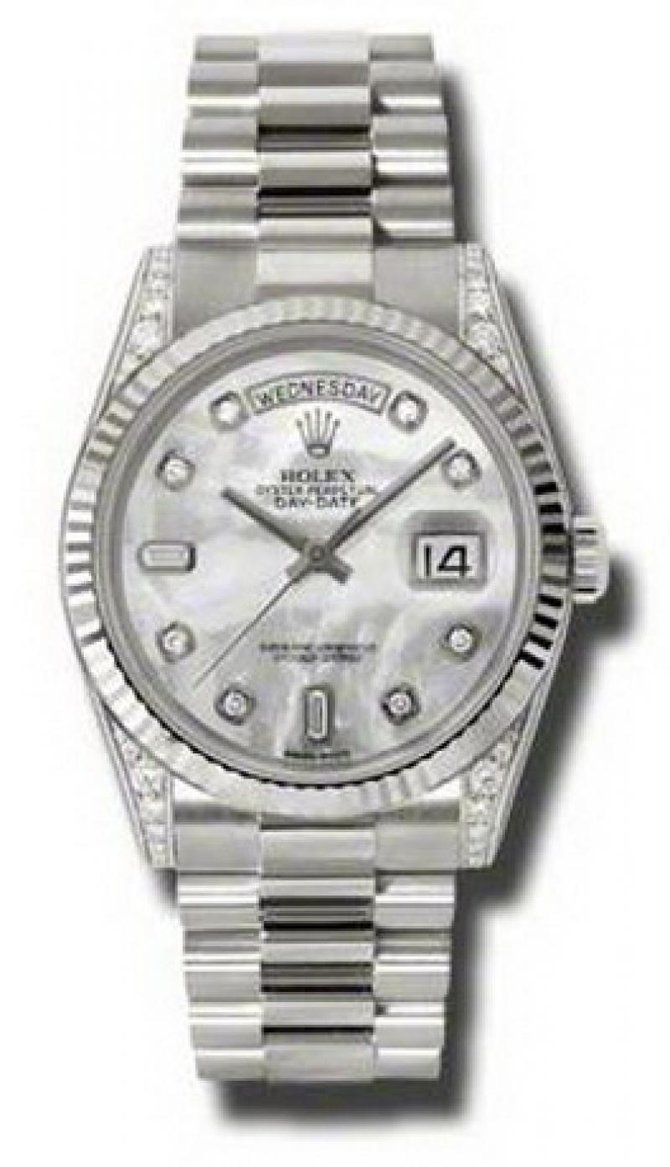 118339 mdp Rolex White Gold Day-Date