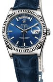 Rolex Day-Date 118139 blue White Gold