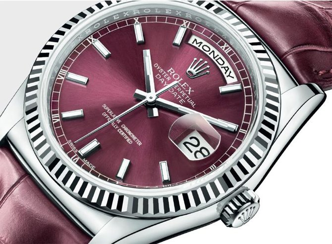 118139-cherry Rolex White Gold Day-Date