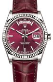 Rolex Day-Date 118139-cherry White Gold