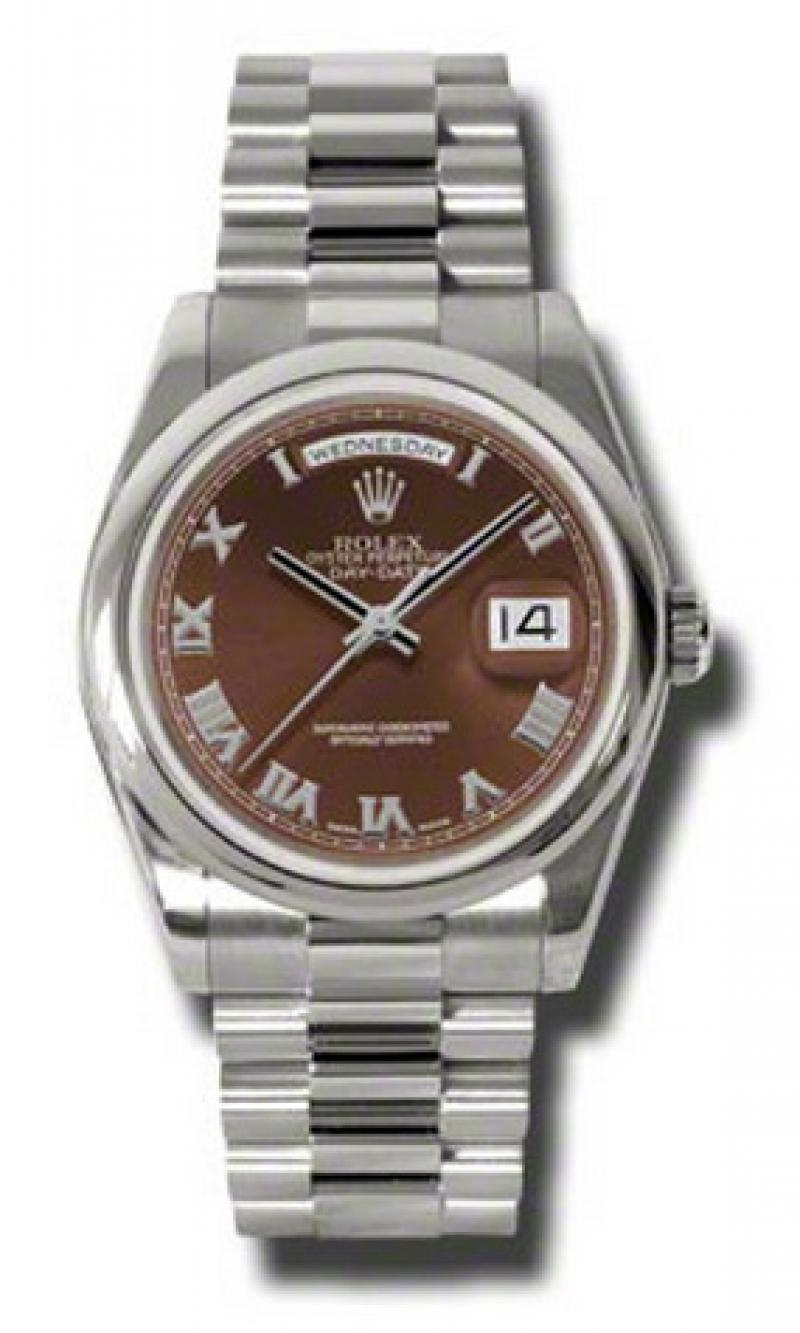 118209 hbrp Rolex White Gold Day-Date