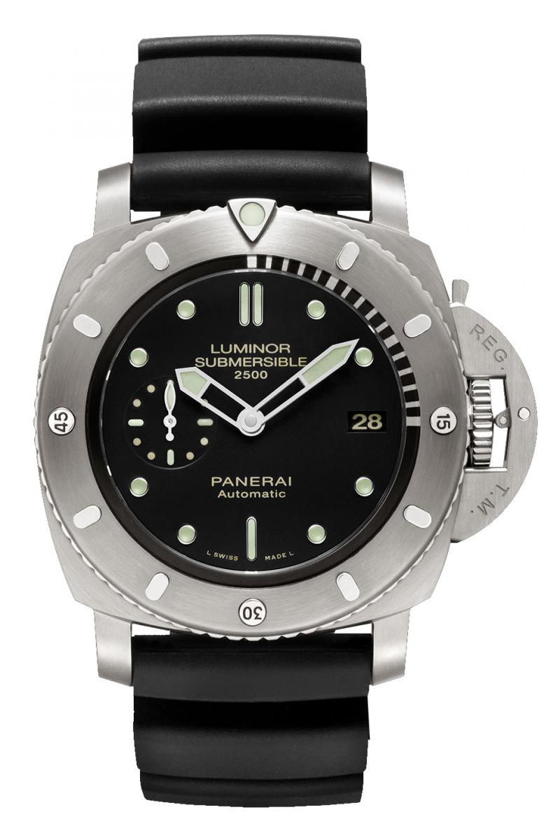 PAM00364 Officine Panerai Luminor Submersible 1950 2500m 3 days Automatic Titanio Limited Edition 500 Special Editions