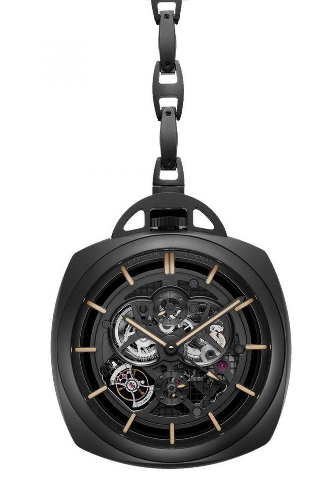 PAM00446 Officine Panerai Pocket Watch Tourbillon GMT Ceramica Limited Edition 50 Special Editions