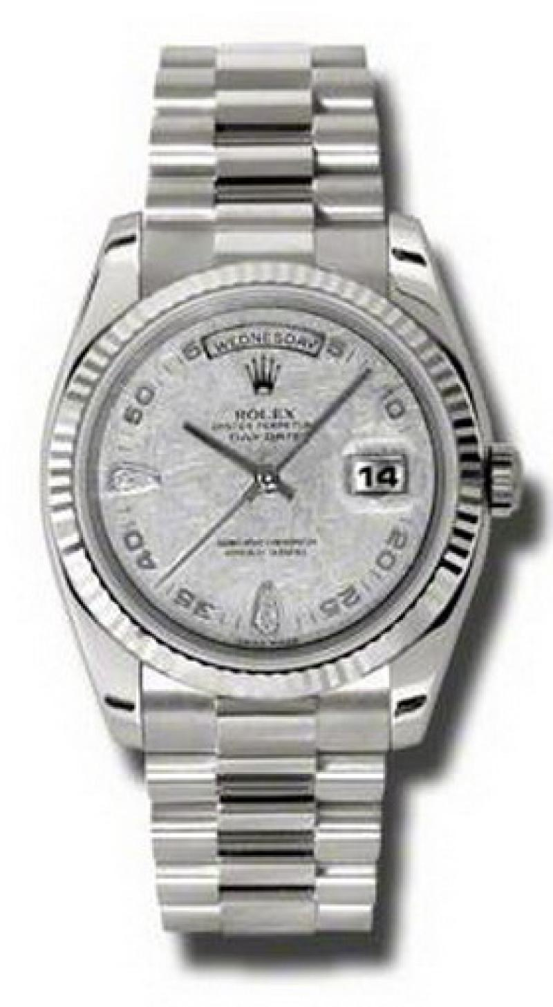 118239 mtadp Rolex White Gold Day-Date