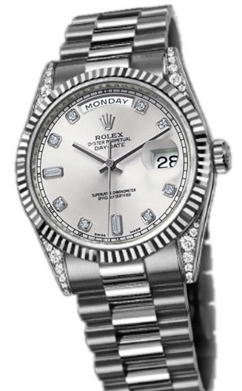 118339 sdp Rolex White Gold Day-Date