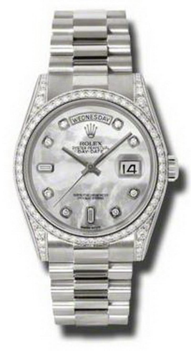 118389 mdp Rolex White Gold Day-Date