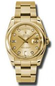 Rolex Day-Date 118208 chdo Yellow Gold