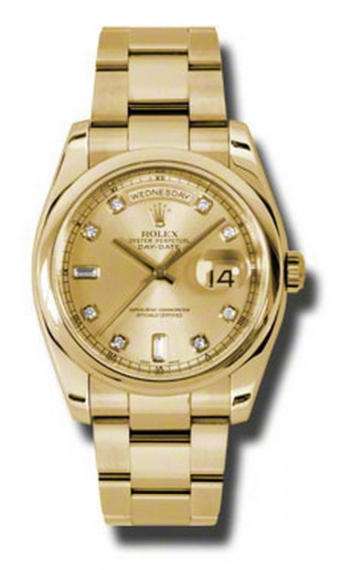 118208 chdo Rolex Yellow Gold Day-Date
