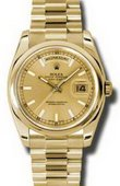 Rolex Day-Date 118208 chsp Yellow Gold
