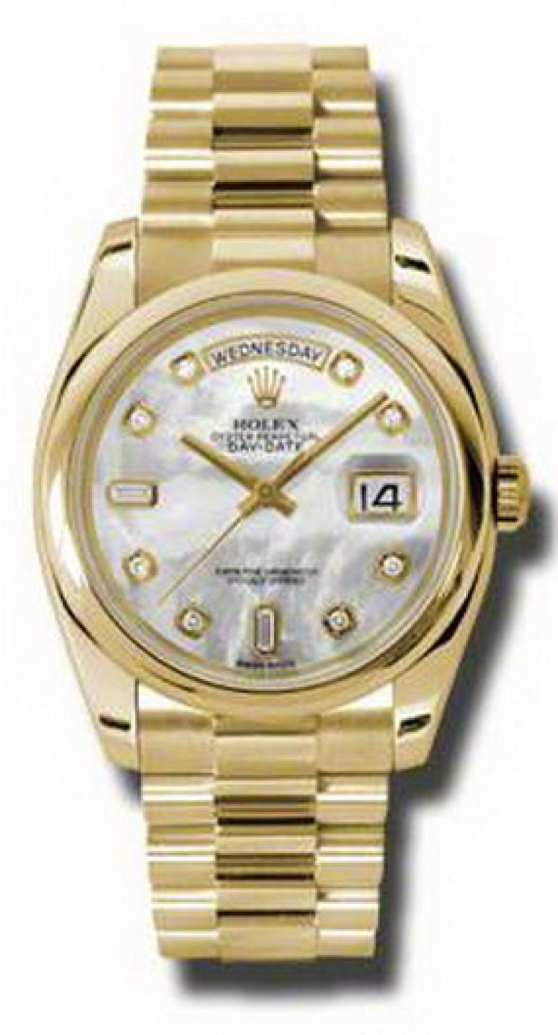 118208 mdp Rolex Yellow Gold Day-Date