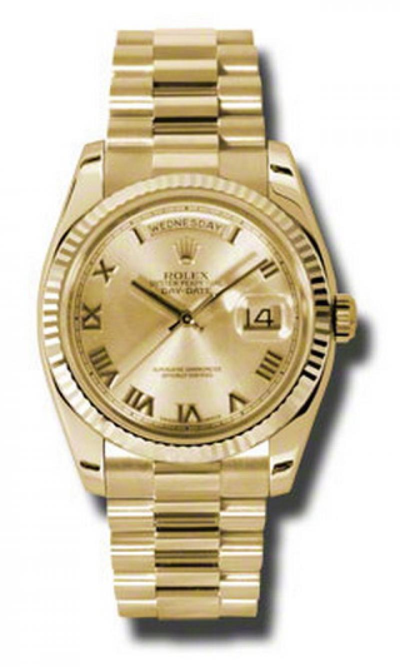 118238 chrp Rolex Yellow Gold Day-Date