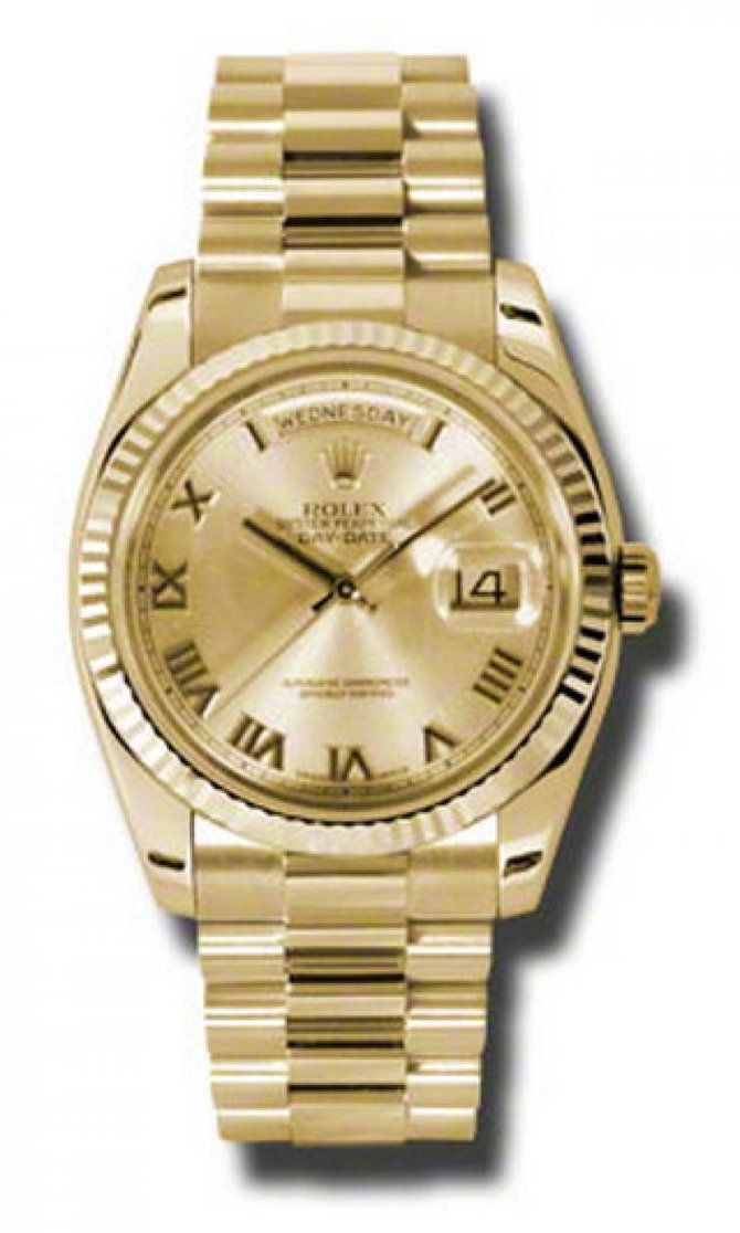 Rolex 118238 chrp Day-Date Yellow Gold - фото 1