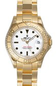 Rolex Yacht Master II 168628 White Yacht-Master 35mm Yellow Gold