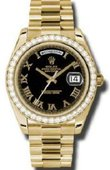 Rolex Day-Date 218348 bkrp Yellow Gold