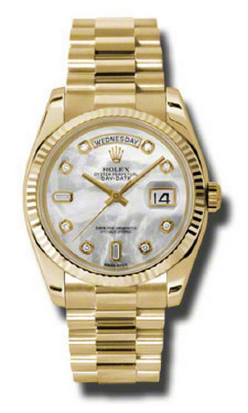 118238 mdp Rolex Yellow Gold Day-Date