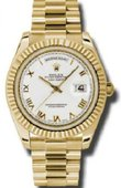 Rolex Day-Date 218238 White Yellow Gold