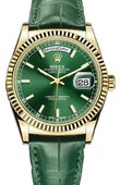Rolex Day-Date 118138-green Yellow Gold