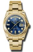 Rolex Day-Date 118208 bdo Yellow Gold