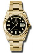 Rolex Day-Date 118208 bkdo Yellow Gold