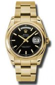 Rolex Day-Date 118208 bkso Yellow Gold