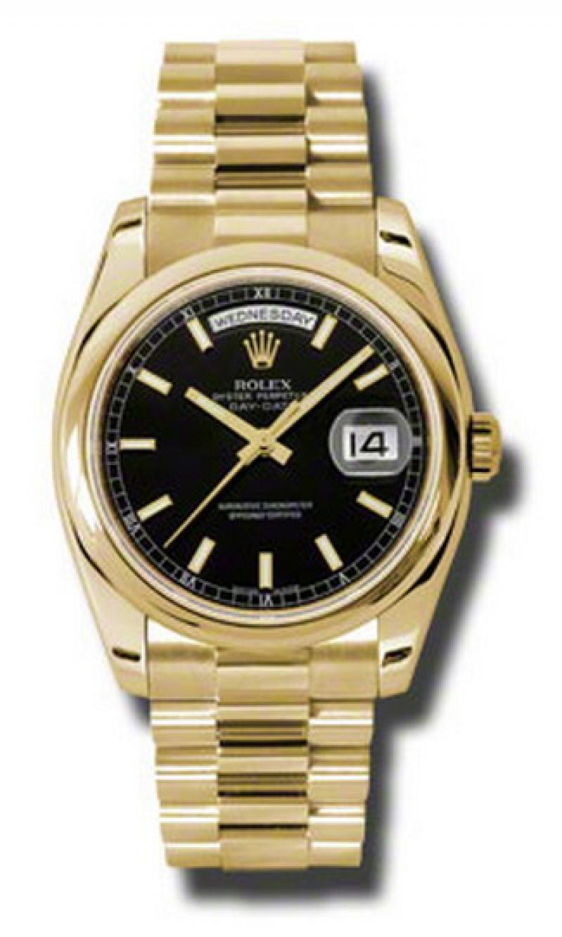118208 bksp Rolex Yellow Gold Day-Date