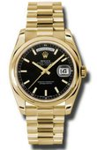 Rolex Day-Date 118208 bksp Yellow Gold
