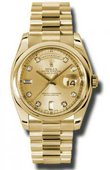 Rolex Day-Date 118208 chdp Yellow Gold