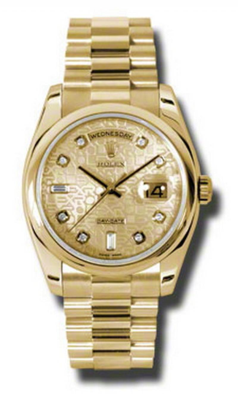 118208 chjdp Rolex Yellow Gold Day-Date