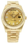 Rolex Day-Date 218238 champagne diamonds Yellow Gold