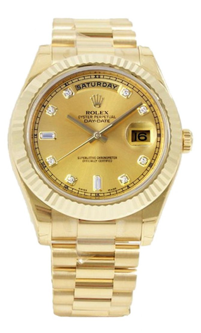218238 champagne diamonds Rolex Yellow Gold Day-Date