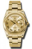 Rolex Day-Date 118208 chro Yellow Gold