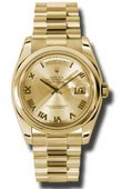 Rolex Day-Date 118208 chrp Yellow Gold