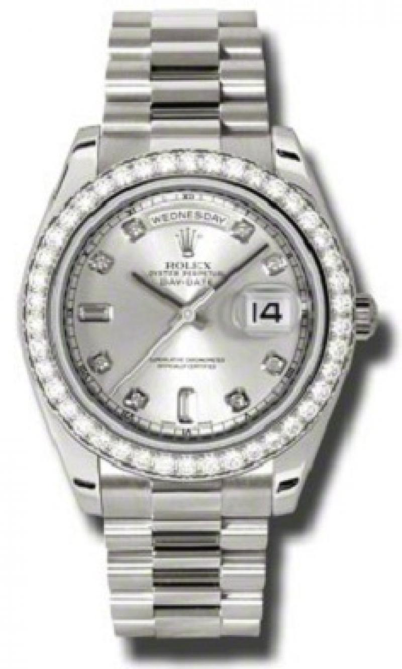 218349 sdp Rolex White Gold Day-Date