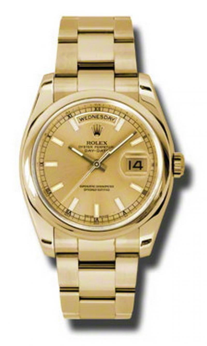 118208 chso Rolex Yellow Gold Day-Date