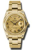 Rolex Day-Date 118208 chwao Yellow Gold