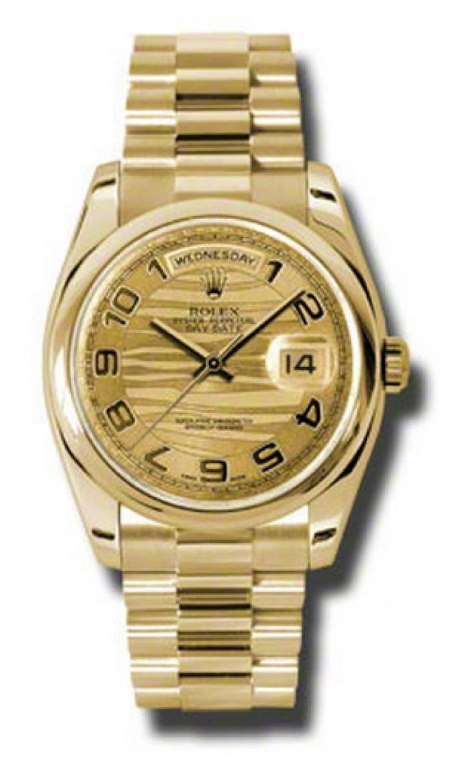 118208-chwap Rolex Yellow Gold Day-Date